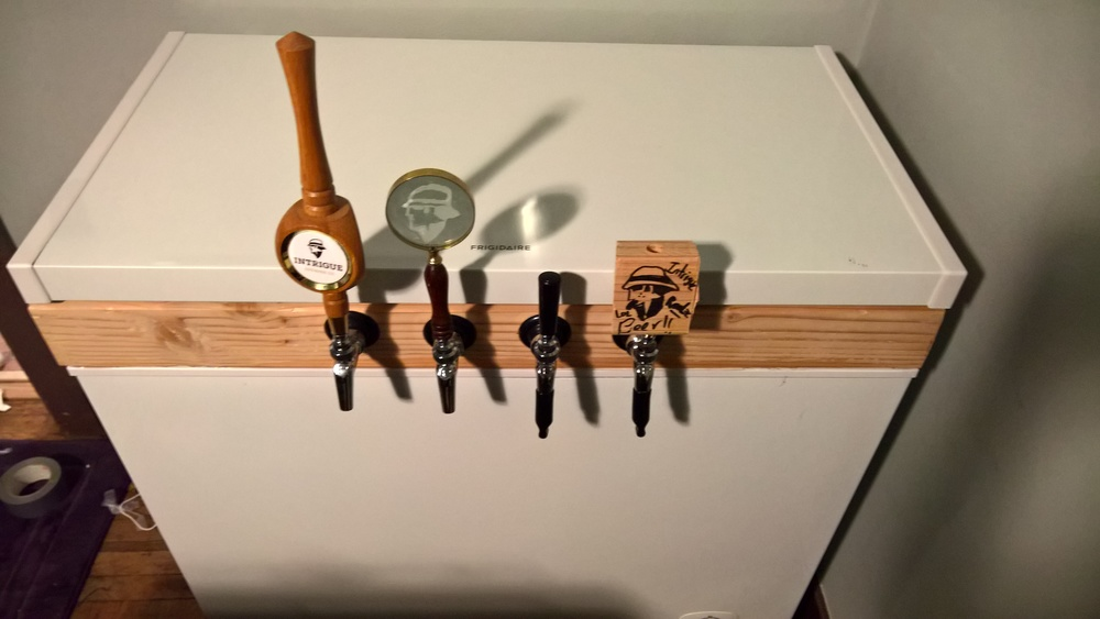 Four different taps and four different tap handles. Working on stepping up the legitimacy later.
