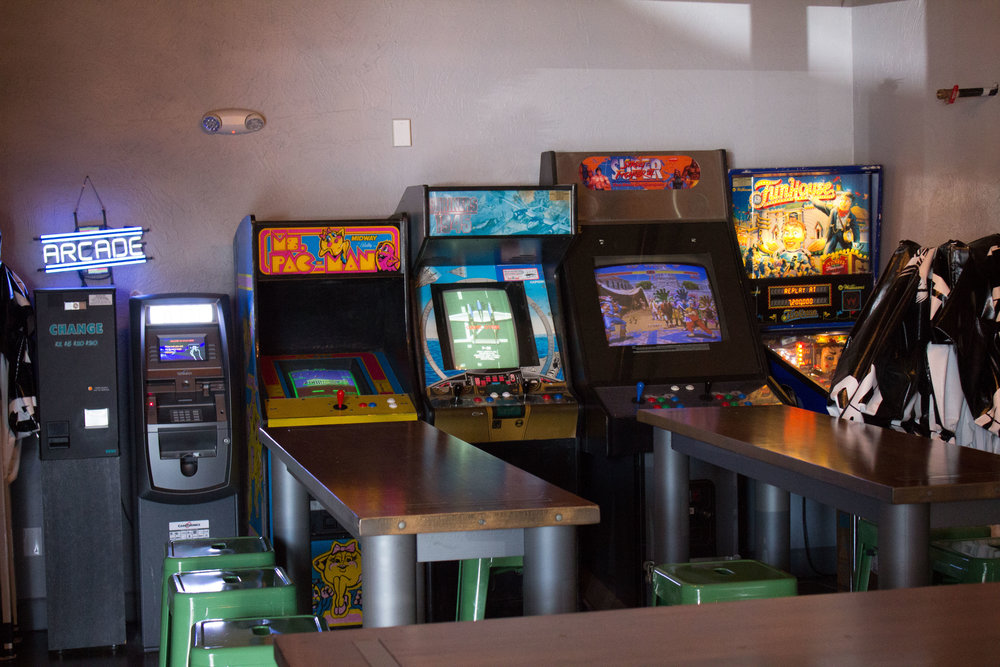 Arcade Machines at Atlas Cider in Bend, OR