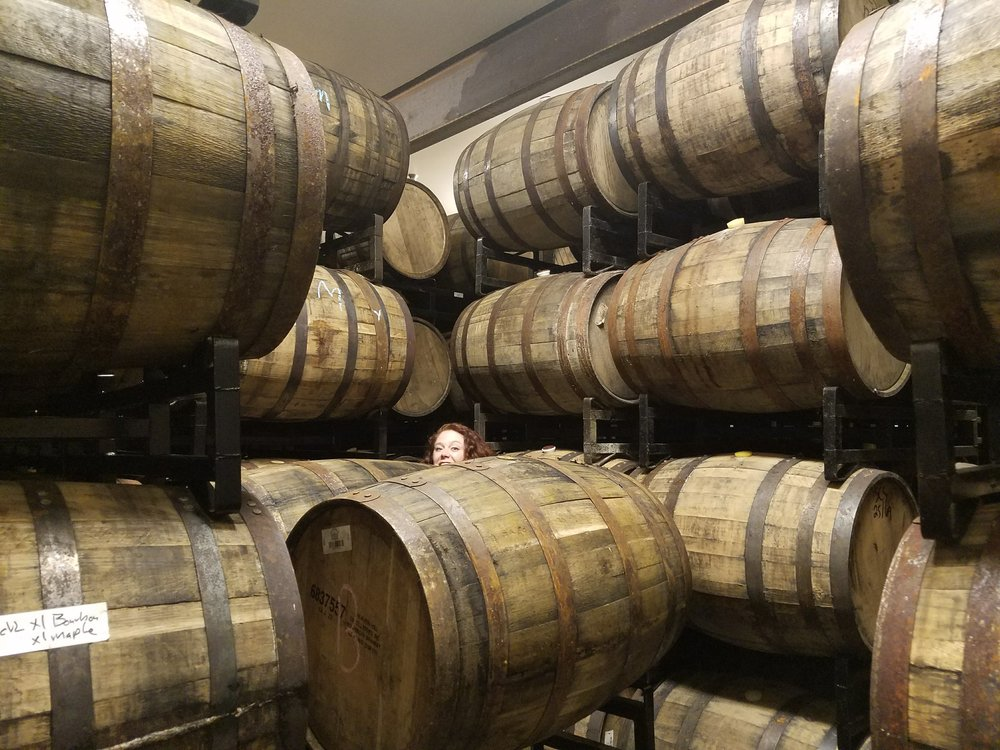 Exploring the barrel cellar at Breakside Brewery Tasting Room. This will be within reach by the end of Summer!
