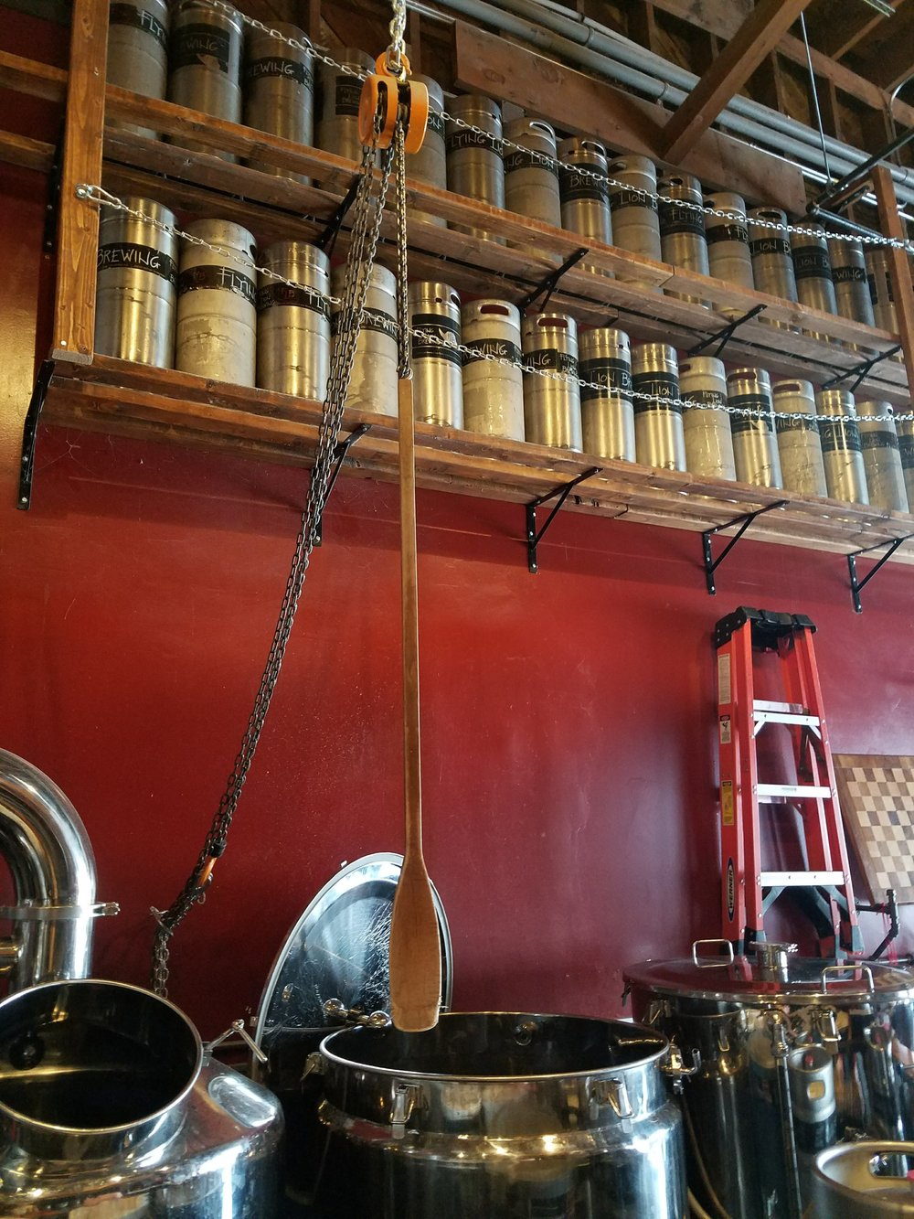 Kegs on Wall