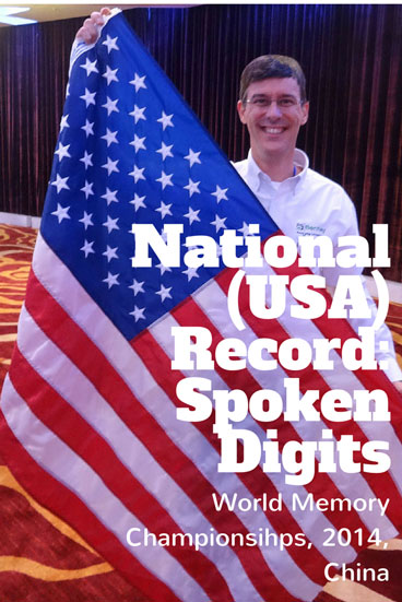 Brad broke his own record set the previous year (112 digits) by memorizing 150 digits spoken by a computer at the rate of one per second, without ever seeing the numbers, writing them down, or reviewing them.