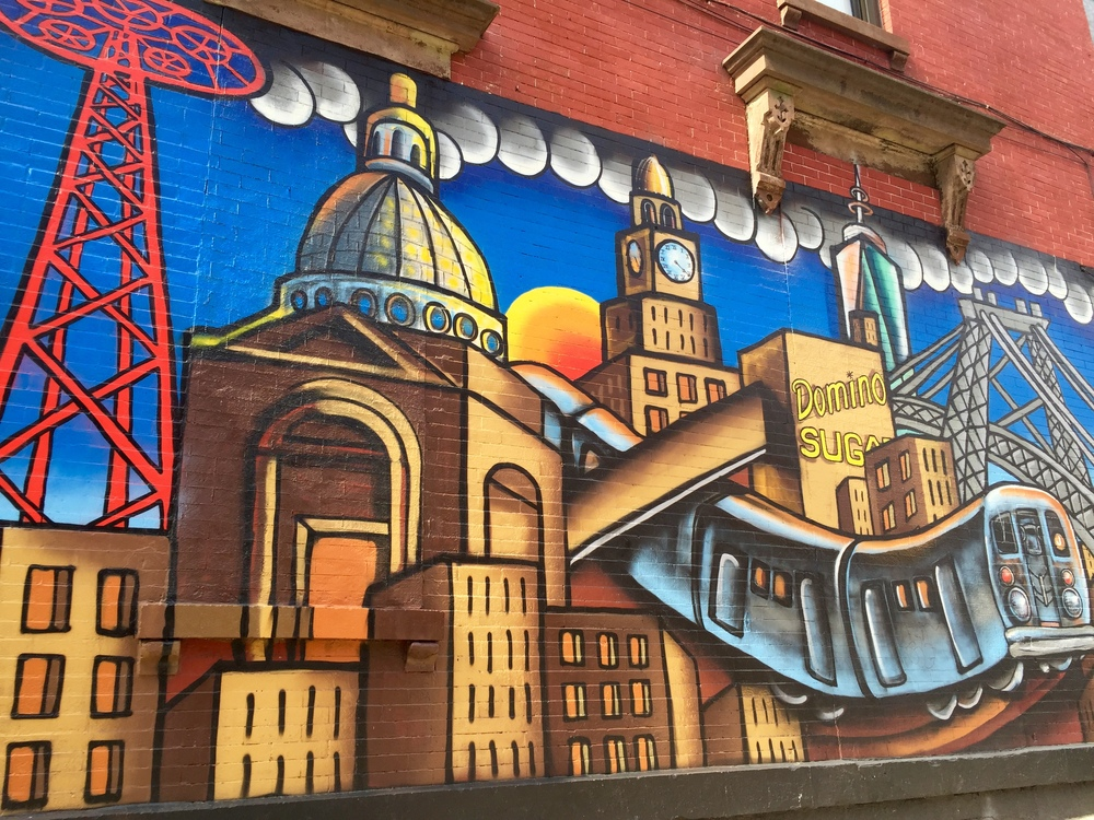 This gorgeous mural is located about a block away from The Bagel Store.