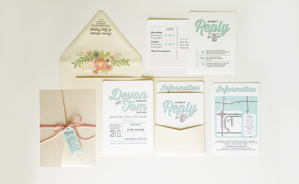 Wedding invitation suite - Devon Design Co