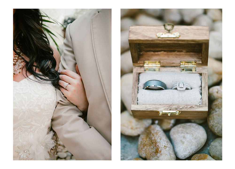DIY wooden wedding ring box Devon Design Co