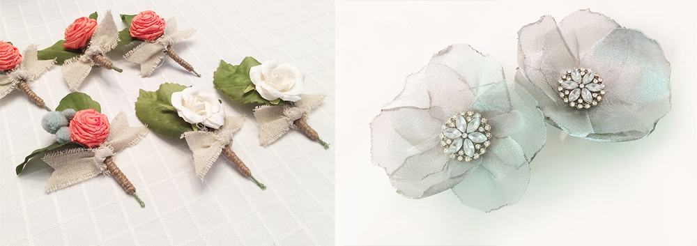 wedding boutonnière design - Devon Design Co