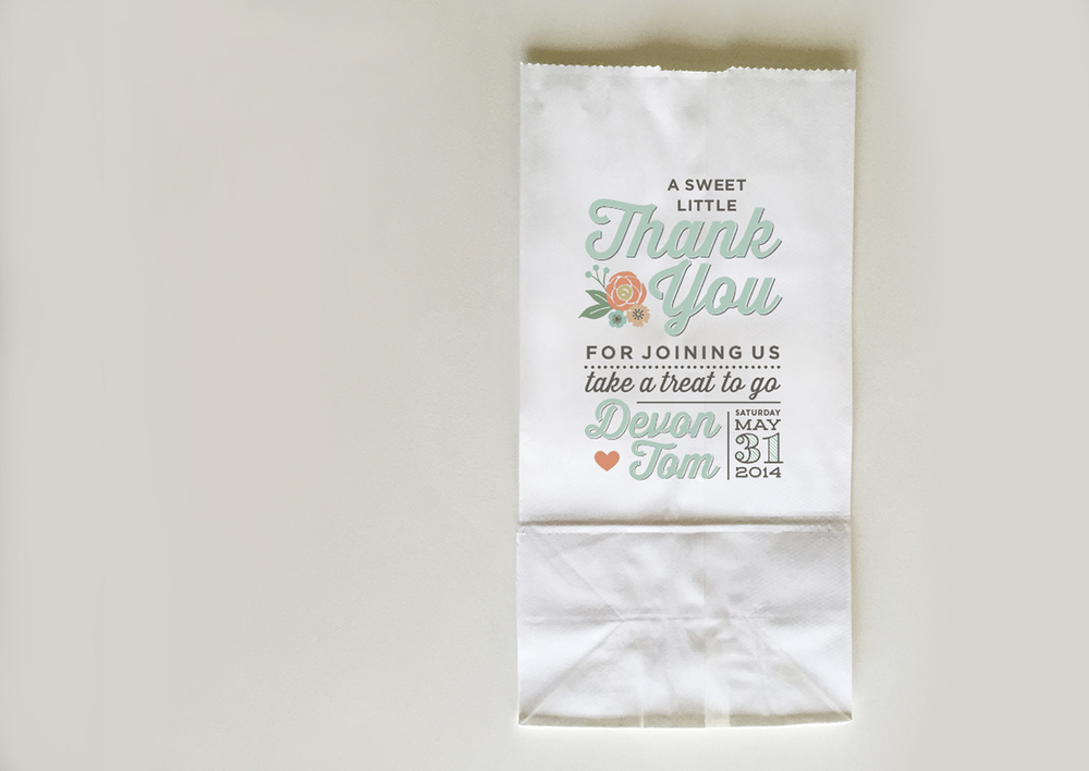 Wedding Treat thank you bag - Devon Design Co