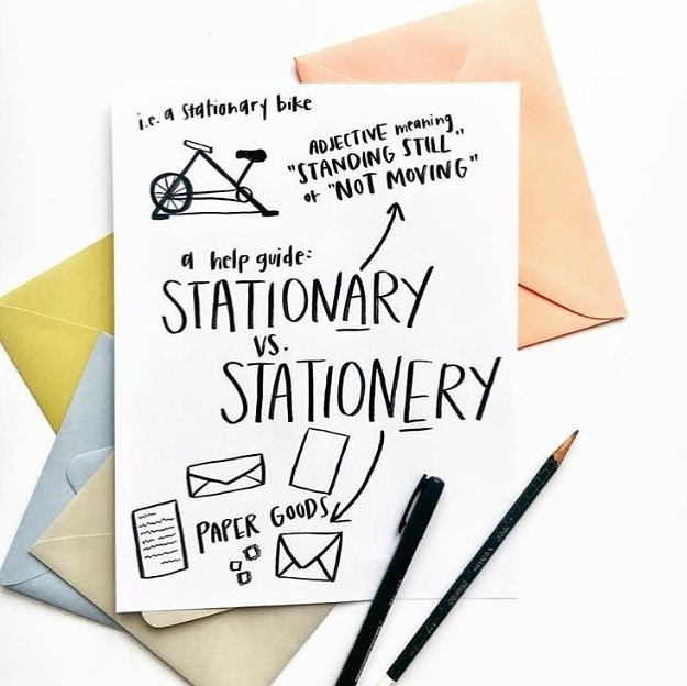Who here misspells stationery? I see it all the time (no judging here! ...unless you work in the biz, then you should Definitely know 😜) Thought this was a super cute reminder created by @sommerletterco 💕