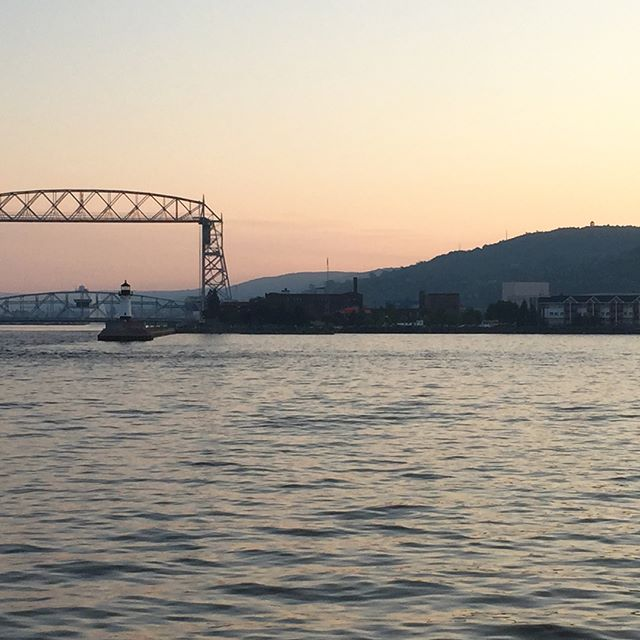 Took a short midweek vaca to visit my Aunt up north. Took a boat to a concert on the pier at Glensheen and Saw the sailboat races on Lake Superior. Was such a beautiful & much needed break! #duluth #duluthmn #lakesuperior #liftbridge #upnorth #concertsonthepier