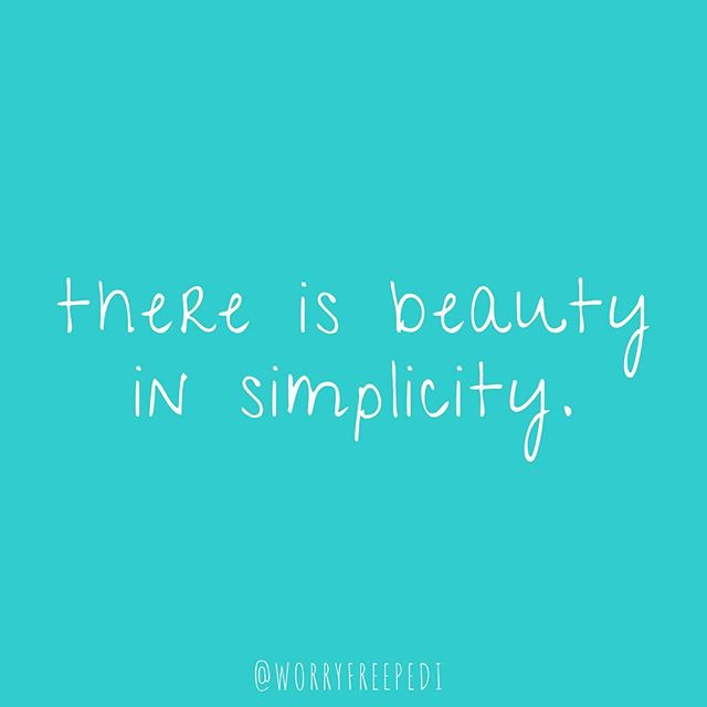 Happy Monday 💜 Keep it simple.