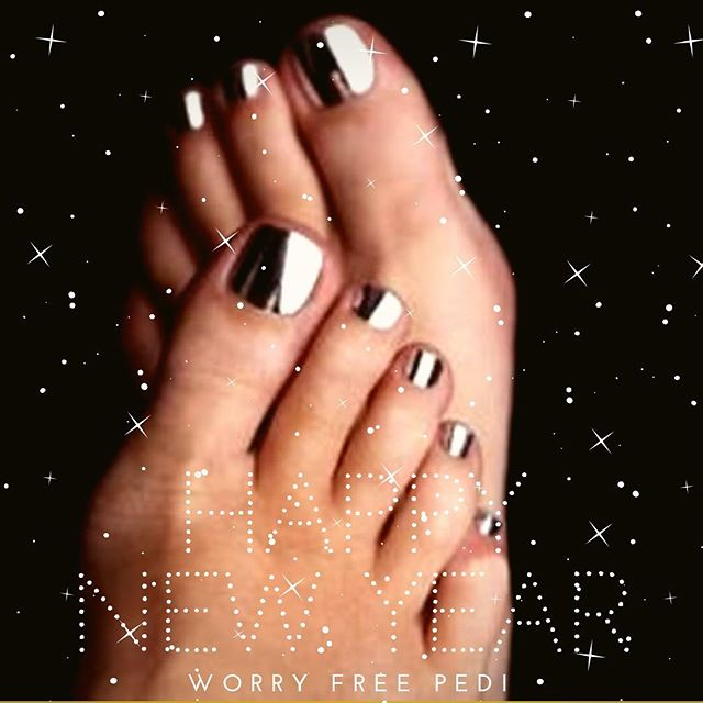 "Happy New Year!✨We have a great New Years resolution for you: ""I will not get a pedicure without using a Worry Free Pedi tablet"" 😉 don't risk infection in 2019, stay Worry Free! (P.S. it's still buy 2 get 1 free on our website)"