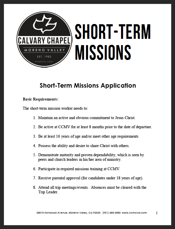 Short-Term Missions