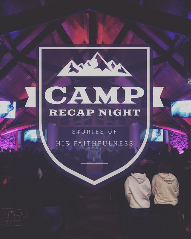 • R E C A P • Grab your camp journals and Bibles and make sure to come tonight at 7pm as we look back to this past weekend and you, yes you, the students, will share what God did on that mountain! We have pizza too! See you in just a couple of hours upstairs in room 202! #souledhs #anthmcamp