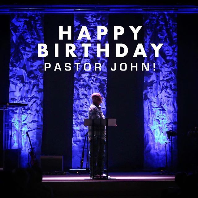 •Happy birthday Pastor John• We wanted to take a moment to wish our senior pastor a very special Happy Birthday! We are so thankful for you and your continued steadfastness in following the Lord and leading this church! We are excited for what the Lord has in store for you as you continue to run the race that the Lord has set before you!