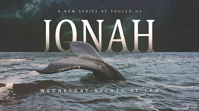 We are so excited to be starting a new series through the amazing little book of Jonah! It may only be 4 chapters long, but packs a big lunch! Grab a friend, get your Bible and notebook, and get to church! We start at 7pm! #souledhs