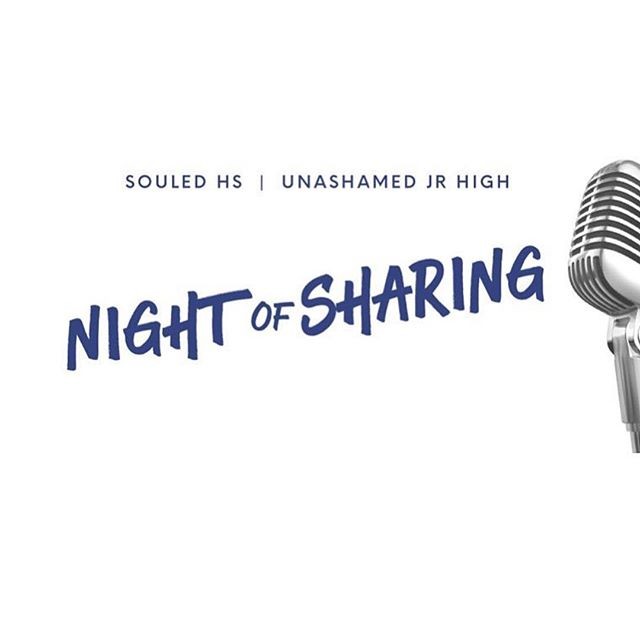 Tonight we open it up to have you share what the Lord has been doing in your life. We start at 6:30PM as the snack bar will be open and 7PM worship begins! Don't miss out on this special night! #souledhs