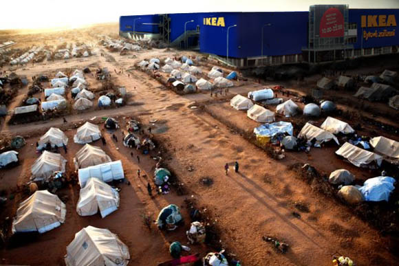 Within the terms of international refugee law, and many host nations, this is a perfectly viable alternative to tent cities. Sipus 2010.
