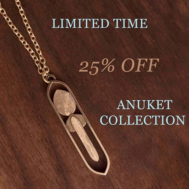 Sale on the Anuket Collection - Channel & Plateau style in Silver & Gold earrings & pendants. Limited time!  Check out online (link in profile) or contact us with inquiries.