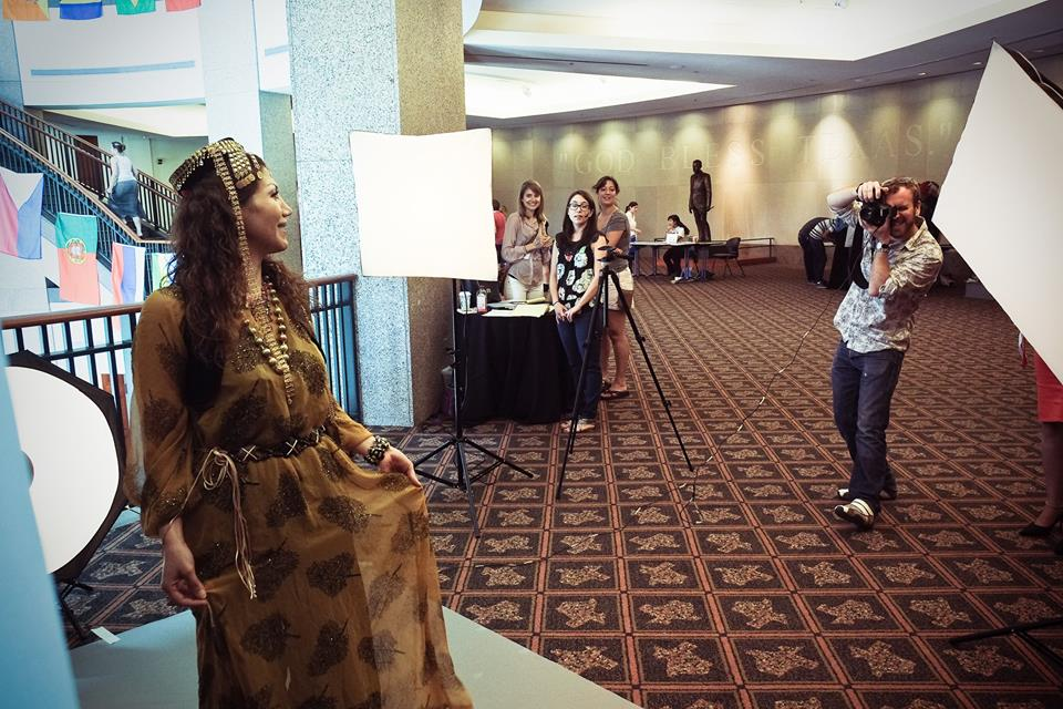 Family portraits at World Refugee Day 2014 @ Bullock History Museum.