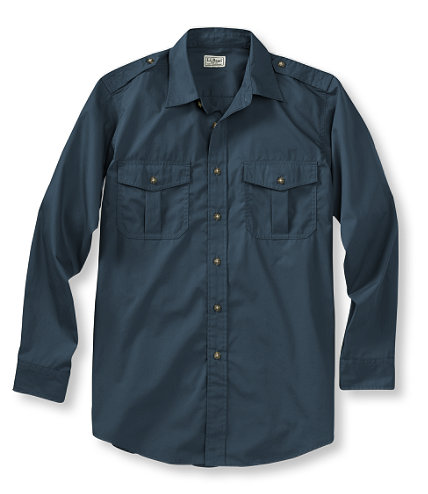 L.L Bean Men's Cotton Poplin Field Shirt             Dark Mariner $54