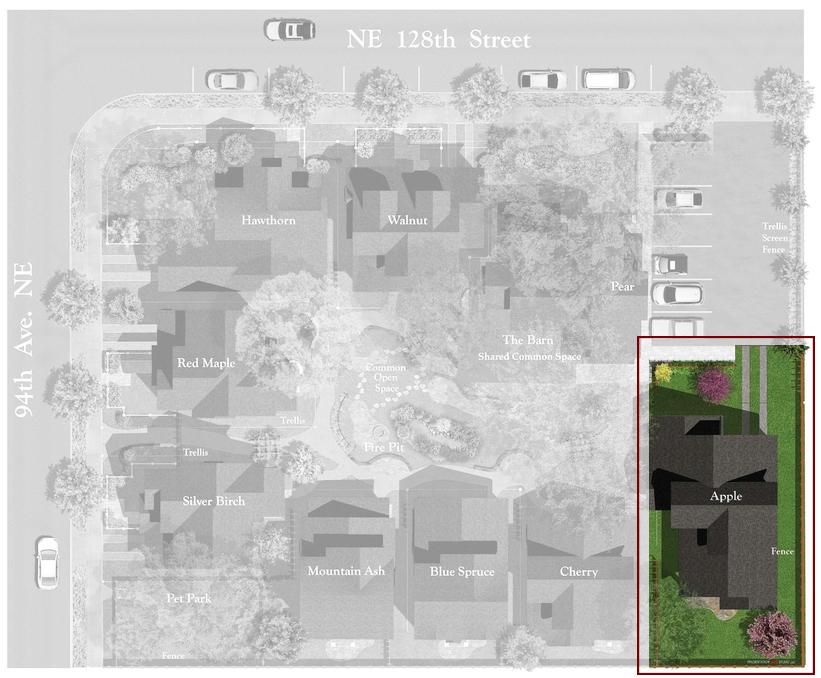 Juanita Farmhouse Cottages Site Plan | The Apple Cottage