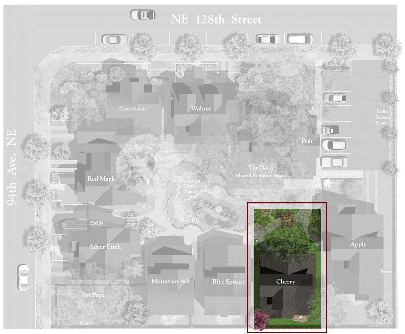 Juanita Farmhouse Cottages Site Plan | The Cherry Cottage