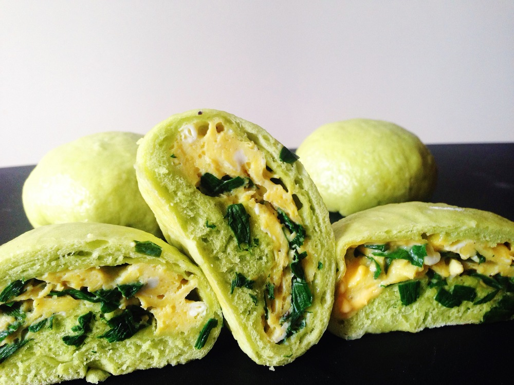 Garlic Chive and Egg Breakfast Bao Third Culture Food