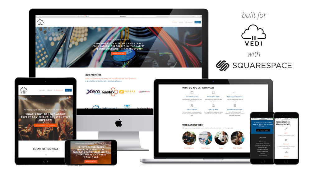Responsive web design Squarespace