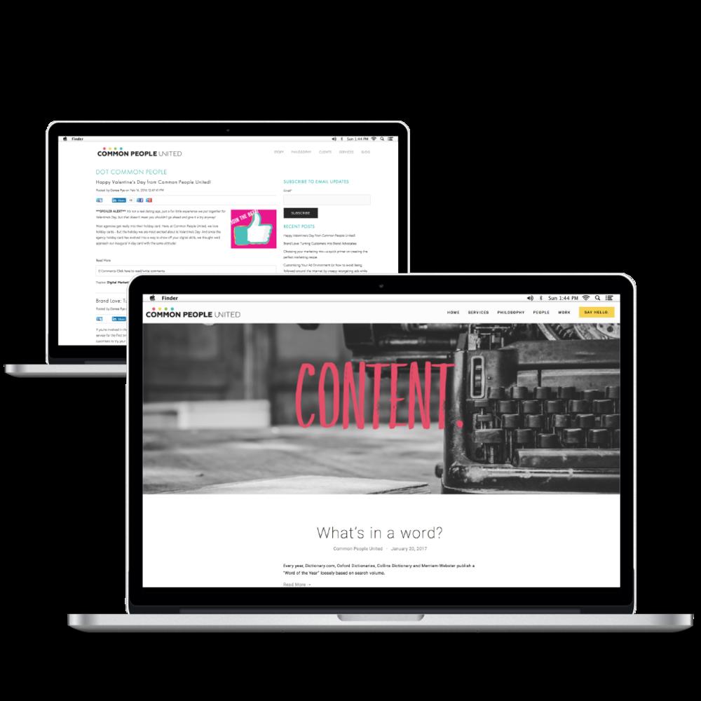 Redesigned Squarespace blog