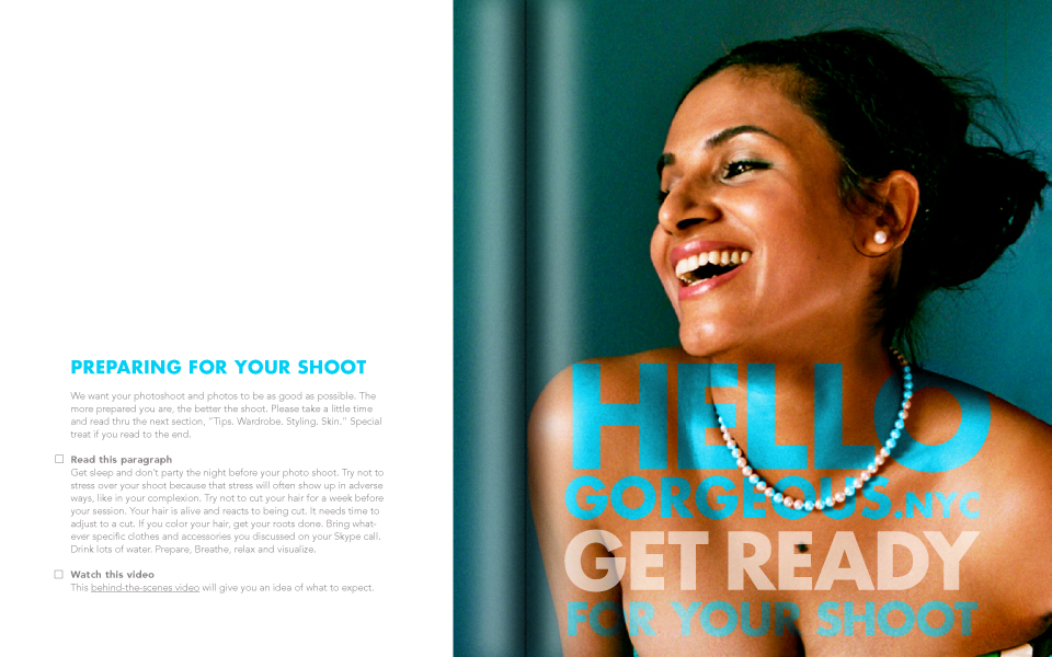 Check you out. How'd you getso Gorgeous?  - Get our FREE Photoshoot Prep Checklist.