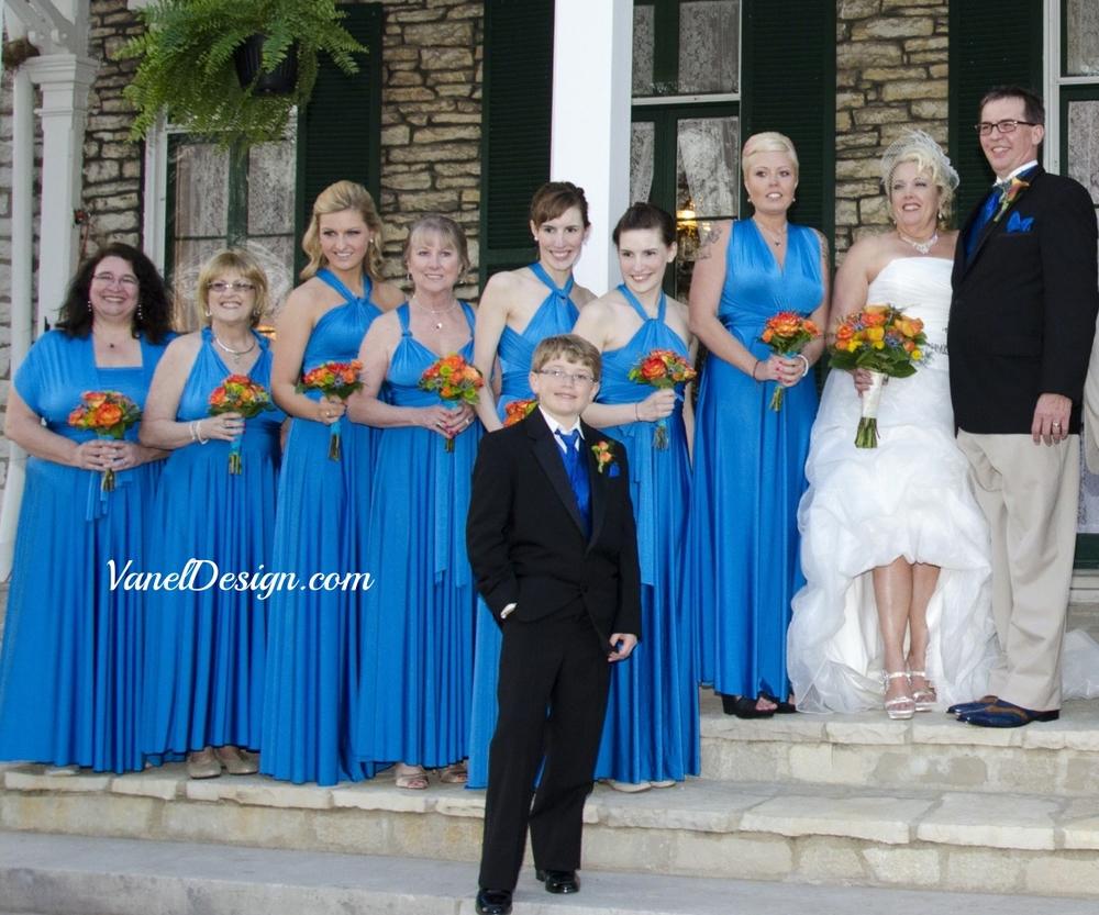 Blue Convertible Bridesmaid Dress