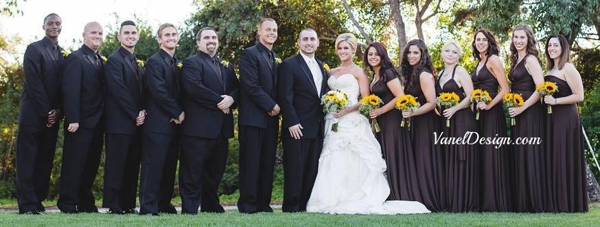 Brown Convertible Bridesmaid Dress 5 Group.jpg