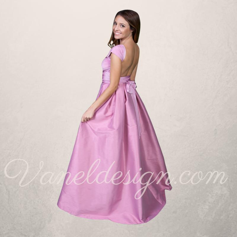 ba5fc163ce2 Dupioni Convertible Dress — Vanel Design