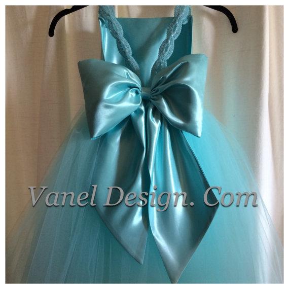 98554cd579 Blue Flower Girl Dress — Vanel Design