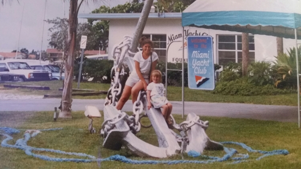 Claudia Wright & Mary Wright in Miami, FL. 1987