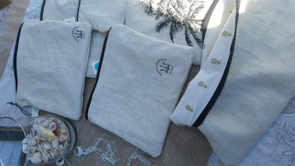 New linen beach bags