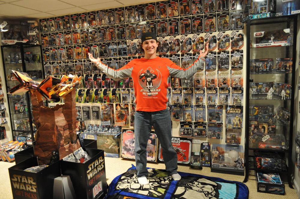 Eric in his Action Figure Room.