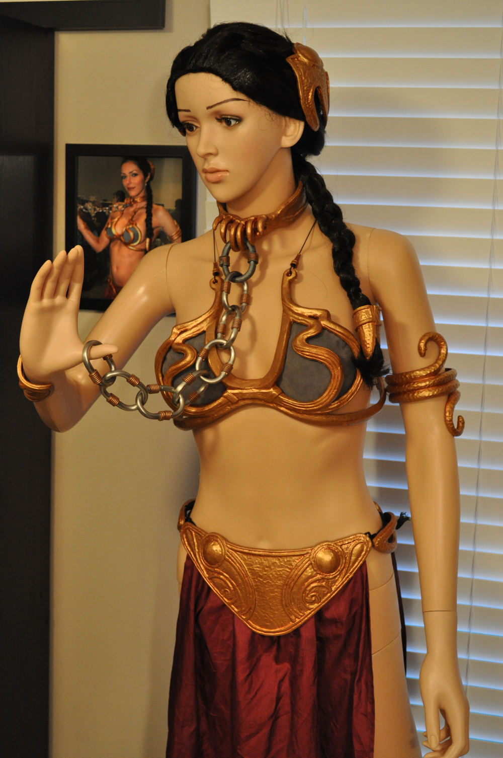 Adrianne Curry's custom Slave Leia Bikini on display in the Convention Room.