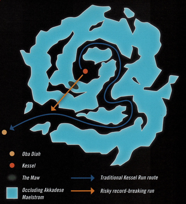 The Kessel Run Route from the  Solo: A Star Wars Story  Official Guide.