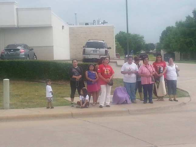 Pro-life activists protest outside the planned abortion facility in Dallas.    Catholic Pro-life Committee of Dallas