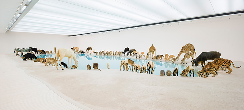 Cai Guo-Qiang, Heritage, 99 life-sized replicas of animals, 2013. Photograph: Natasha Harth, Queensland Art Gallery