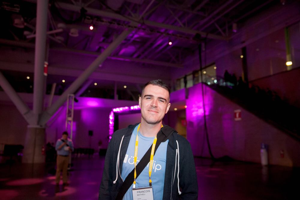 Francois Mathieu at the Inbound conference. Photo courtesy of  Esther Mathieu Photography .