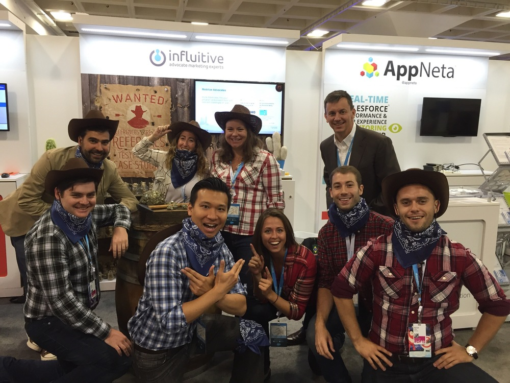 """Don't be a lone ranger. Round up your advocates and create a stampede behind your brand.""  was the theme for Influitive's   booth at Dreamforce 2015 in September."