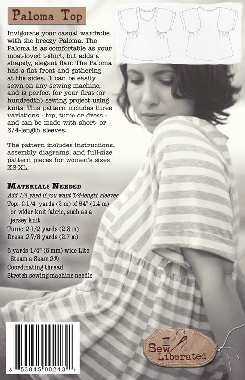 Paloma Top, Tunic & Dress PDF Sewing Pattern — Sew Liberated