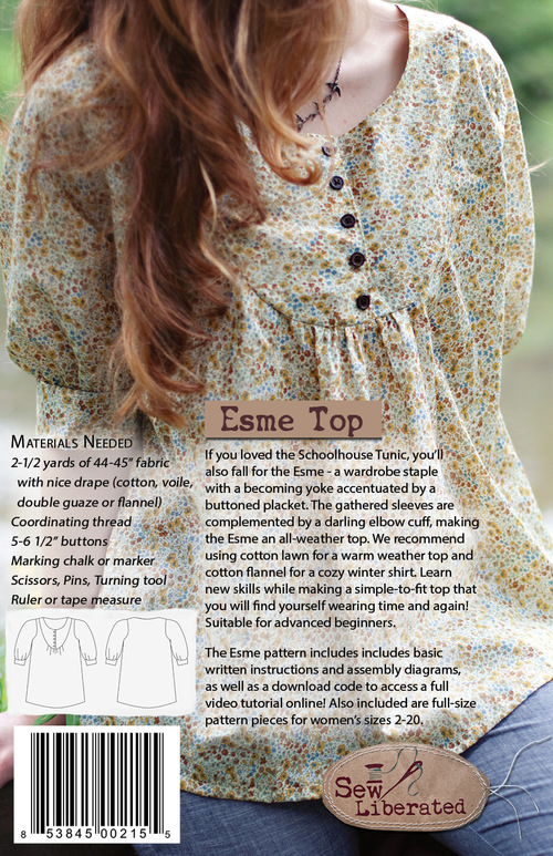Esme Top Pdf Sewing Pattern Sew Liberated