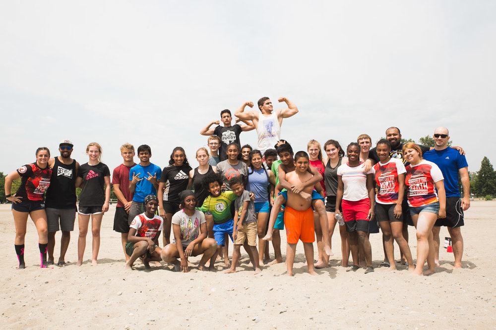 BTST students are still full of smiles and energy after a challenging 2 hour workout on the beach!