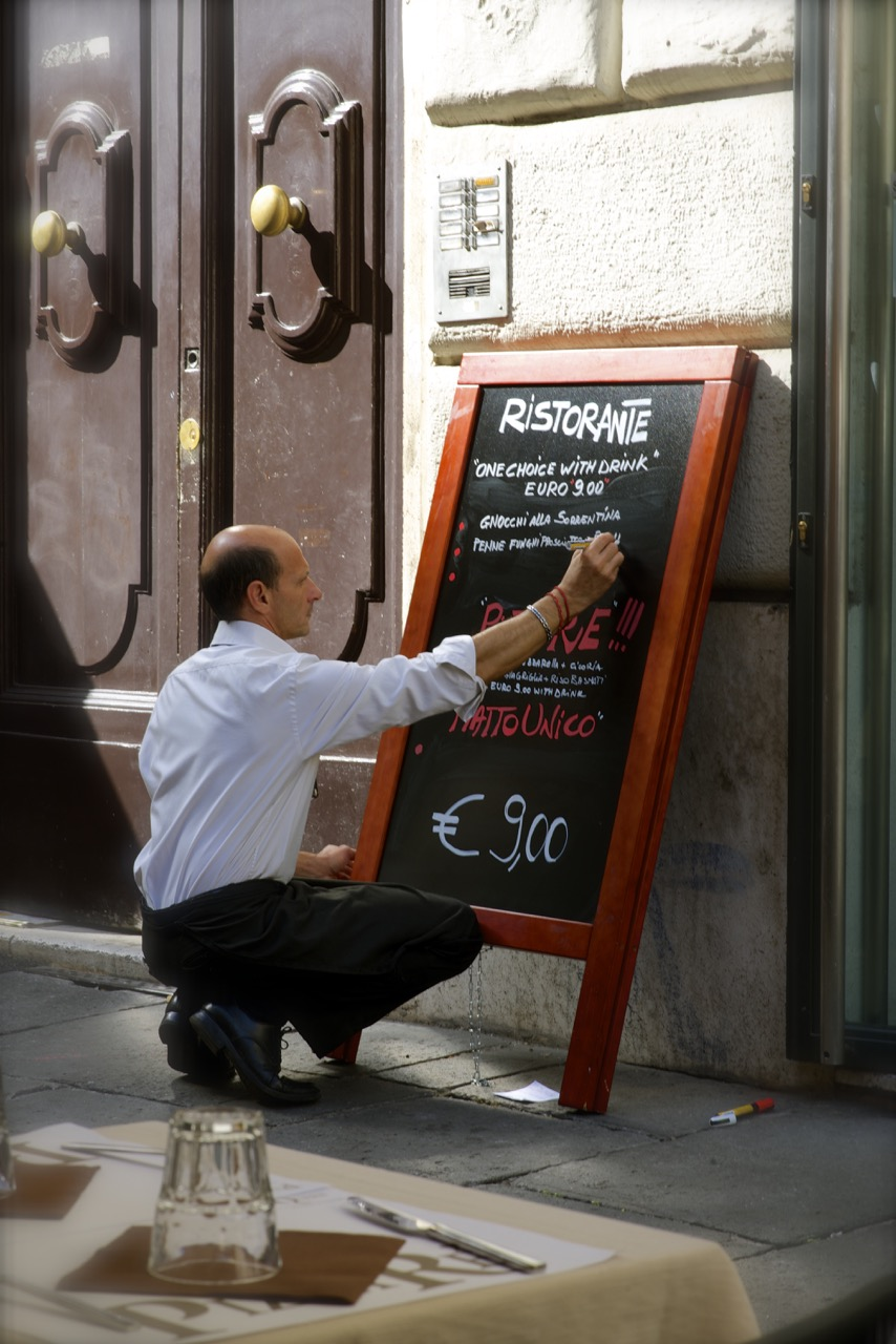 Maitre d' and the Menu Board