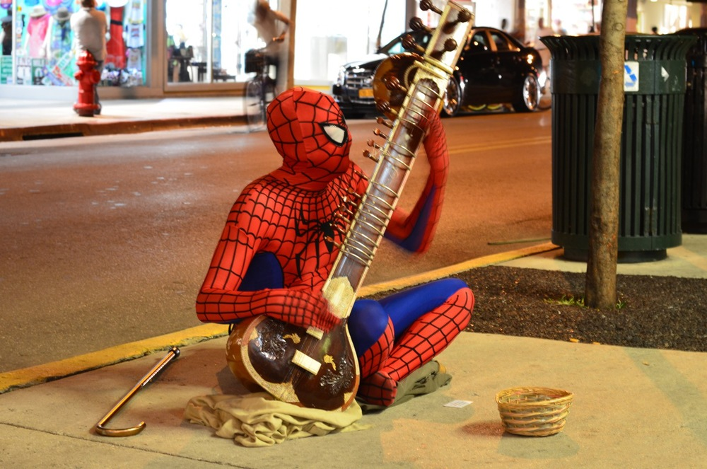 Spiderman Sitar Cane