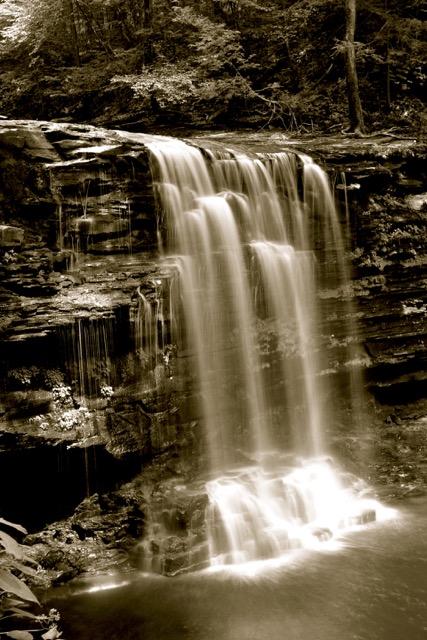 Harrison Wright Falls - Black & White