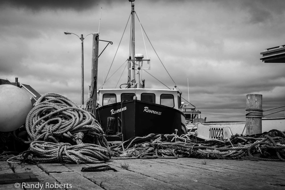 Peggy's Cove in Black & White