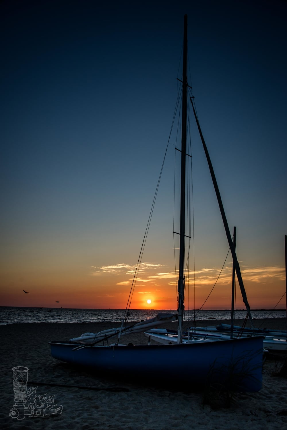 Sunrise & Sailboats